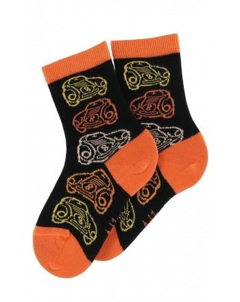 Mi-chaussettes motif Bolides en coton