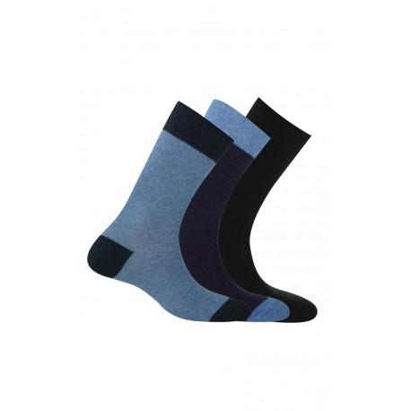 Pack 3 paires chaussettes contrastées anti-odeur