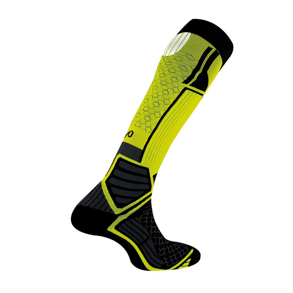 Chaussettes hautes Energy Run - Couleur - Jaune, Pointure - 41-43