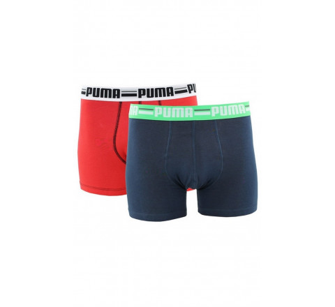 Pack 2 boxers Sportlifestyle rouge marine
