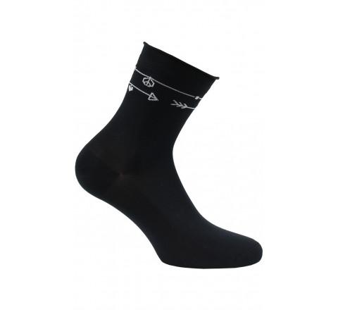 Socquettes motif Tatoo en Meryl
