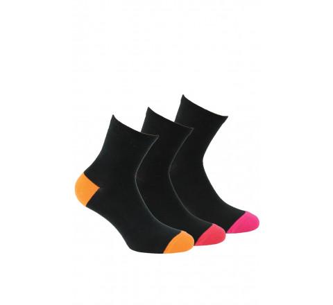 Socquettes en coton vendues en lot de 3 paires