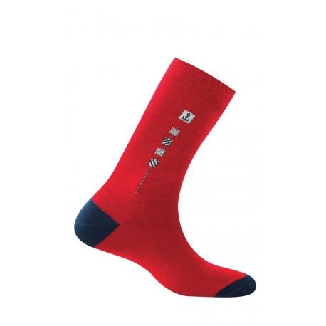 Mi-chaussettes homme baguette pur coton