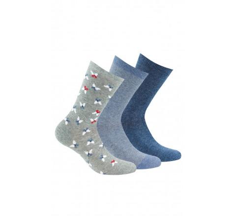 Lot de 3 paires de chaussettes en coton