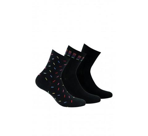 Lot de 3 paires de socquettes noires en coton