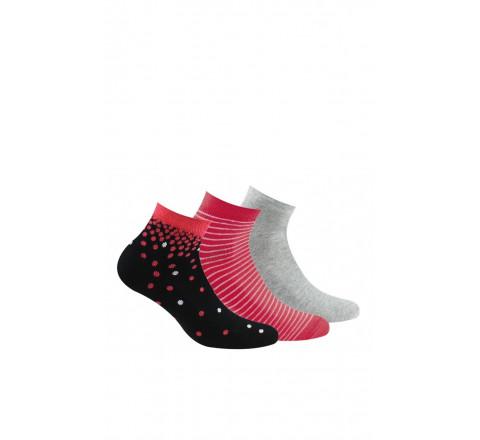 Lot de 3 paires de socquettes ultra-courtes en coton