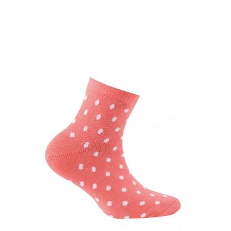 Socquettes motif pois en pur coton