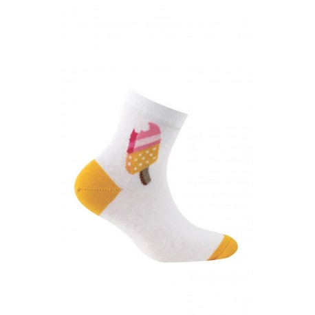 Chaussettes courtes motif esquimau en pur coton
