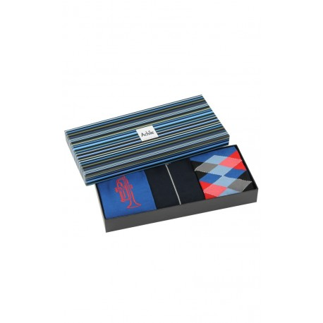 Coffret cadeau 3 paires de chaussettes colorées Achile
