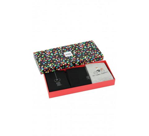 Coffret cadeau Femme 3 paires de chaussettes chics Achile