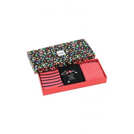Coffret cadeau Femme 3 paires de chaussettes girly Achile