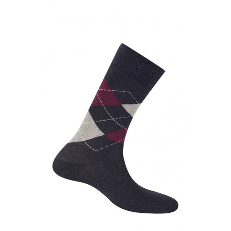 Mi-chaussettes intarsia en coton