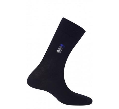 Mi-chaussettes fantaisies en coton