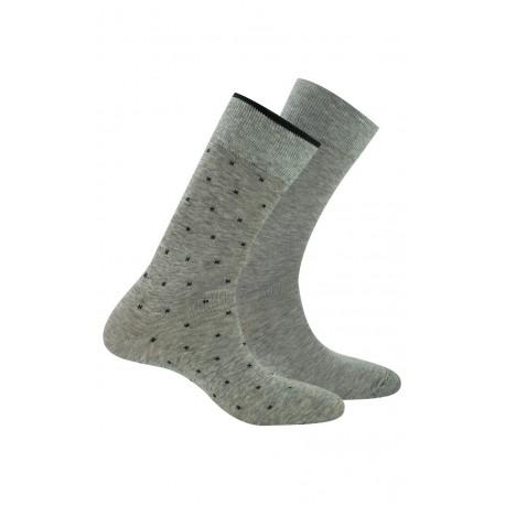 Pack de 2 paires de chaussettes en fil d'écosse