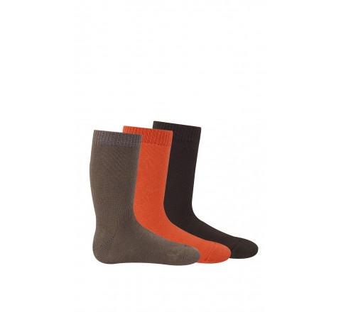 Chaussettes unies de couleur vendues par 3 paires