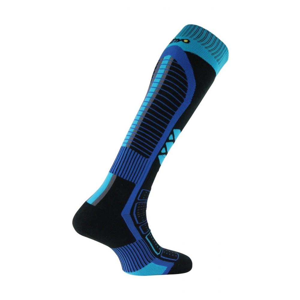 Mi-bas Ski Thermo-Tech en Thermolite - Couleur - Noir bleu, Pointure - 38-40
