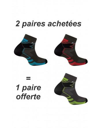 2 paires + 1 gratuite de socquettes Double Trail