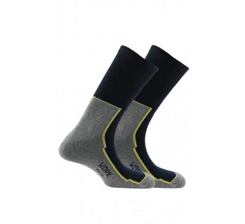 2 paires de chaussettes de travail pour chaussures de sécurité en coton