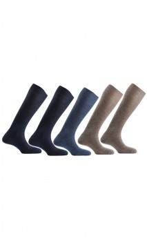 Lot de 5 paires de chaussettes hautes en Laine