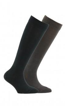 2 paires de chaussettes hautes enfant en coton