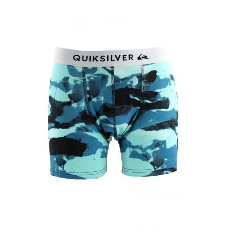 Boxer Poster Quiksilver bleu/vert en coton