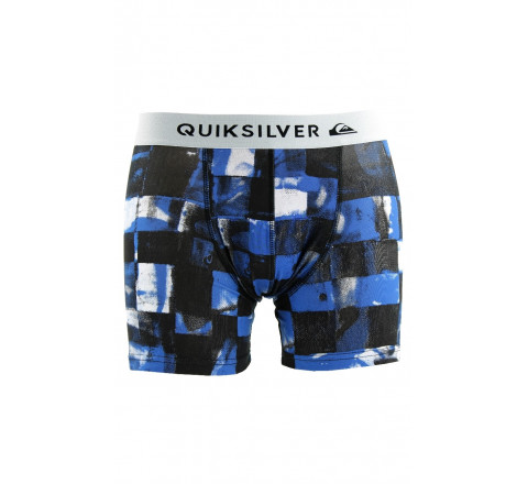Boxer Poster Quiksilver noir/bleu en coton