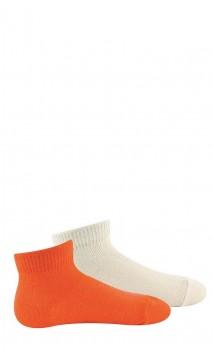 Pack de 2 paires de chaussettes courtes unies bébé