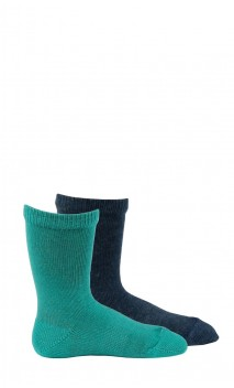 Pack de 2 paires de mi-chaussettes unies bébé