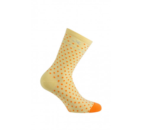 Mi-chaussettes à pois Chambord en coton
