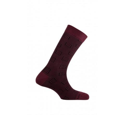 Mi-chaussettes modèle Windows en coton