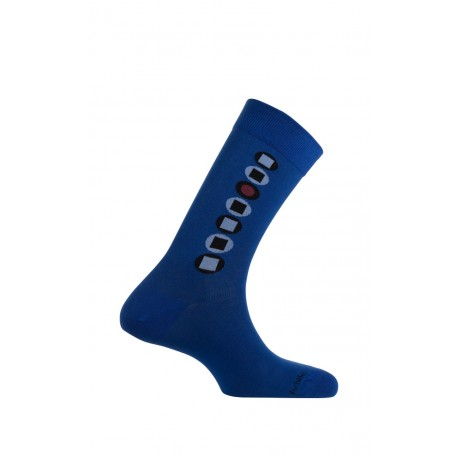 Mi-chaussettes baguette Dots en coton