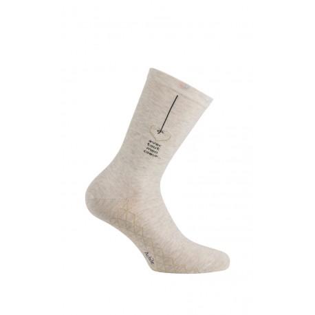 Mi-chaussettes Joli Coeur en coton