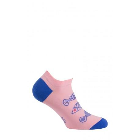 Chaussettes invisibles motif Poissons en coton