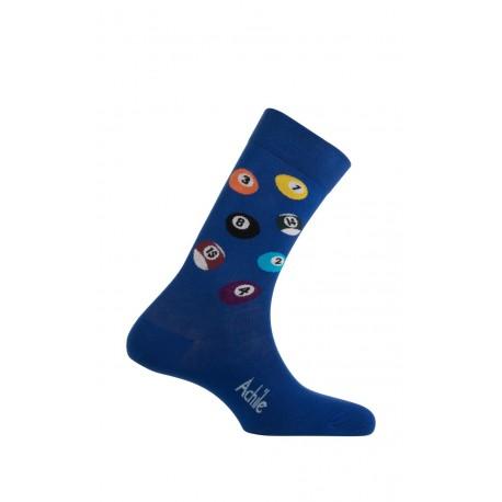 Mi-chaussettes modèle Billard en coton