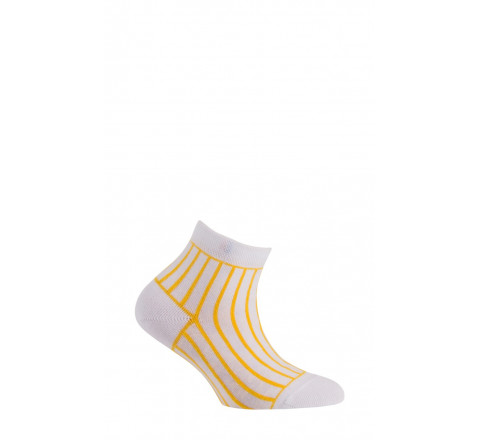Socquettes rayures verticales en coton