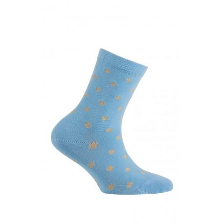 Chaussettes motif pois en coton