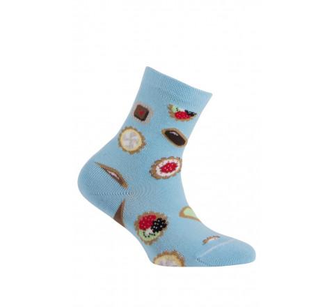 Chaussettes motif Mignardises en coton
