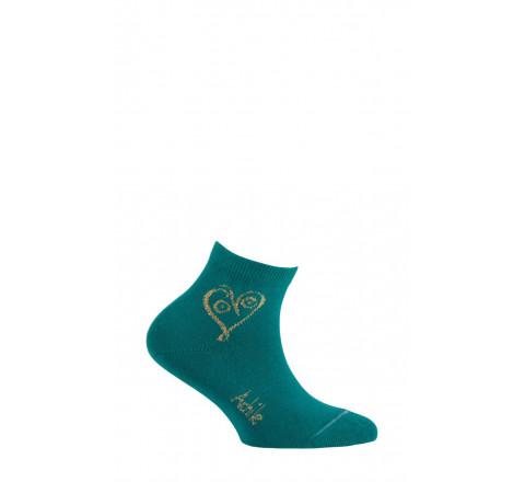 Chaussettes courtes motif Love en coton