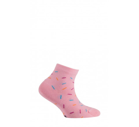 Chaussettes courtes motif Vermicelles en coton