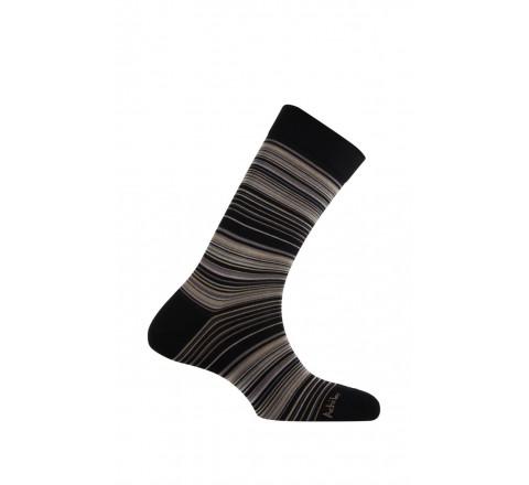 Mi-chaussettes modèle Stripes en fil d'écosse