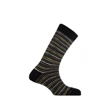 Mi-chaussettes rayures modèle Ray en coton