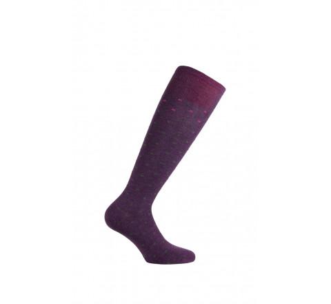 Chaussettes hautes à pois modèle Caline en angora