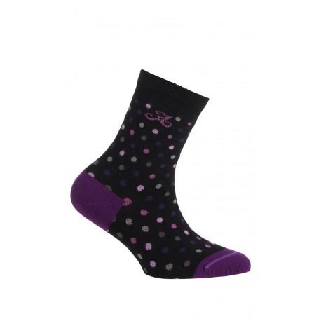 Mi-chaussettes motif pois modèle Maddy en coton