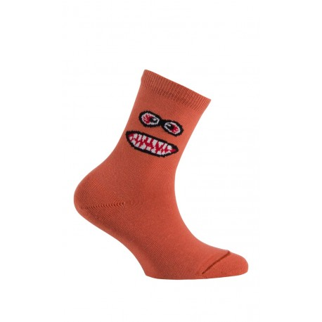 Mi-chaussettes modèle Monster en coton