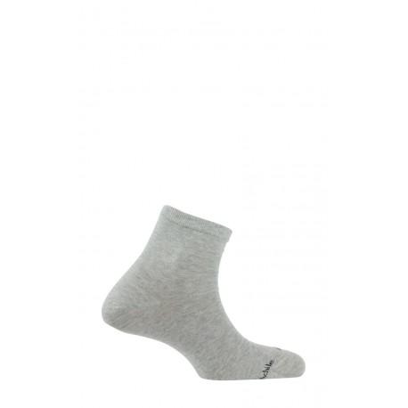Chaussettes courtes unies en coton