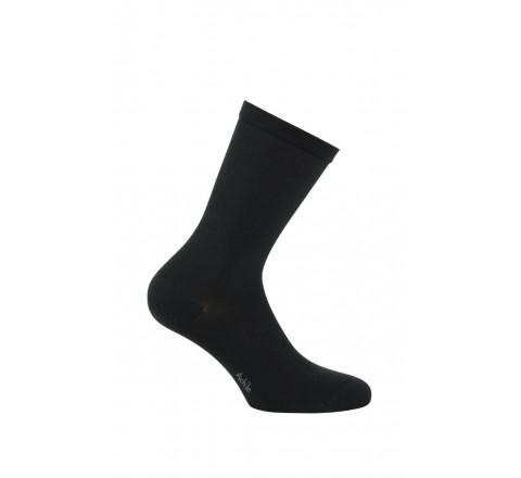 Mi-chaussettes modèle Victoire en soie