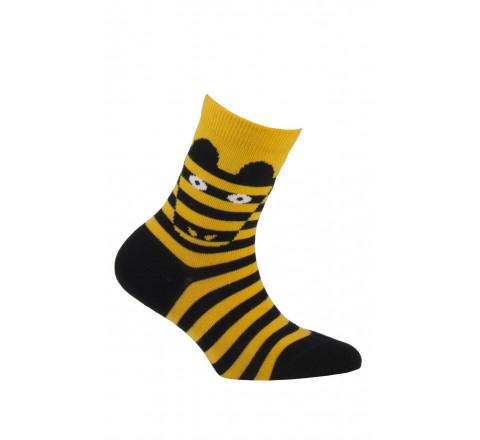 Mi-chaussettes modèle Zèbre en coton