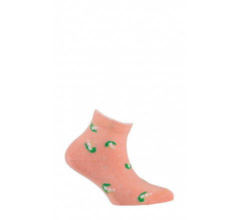 Socquettes fleurs en coton