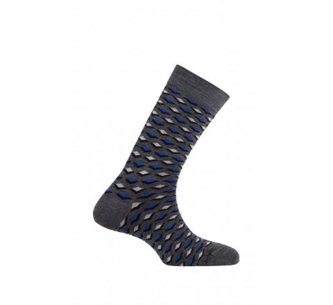 Mi-chaussettes modèle Dandy en laine et coton