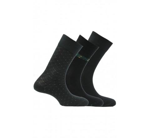 Pack 3 paires de mi-chaussettes en coton